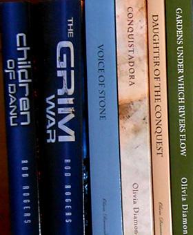Mountain of Dreams bookshelf.