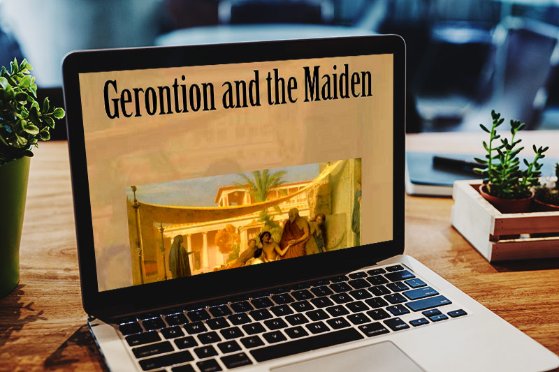 Gerontion and the Maiden by Olivia Diamond